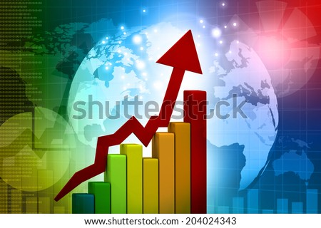 Business graph, global finance