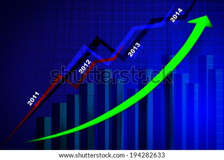 Business graph in abstract design