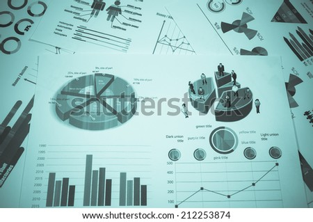 Business graph on table. - stock photo