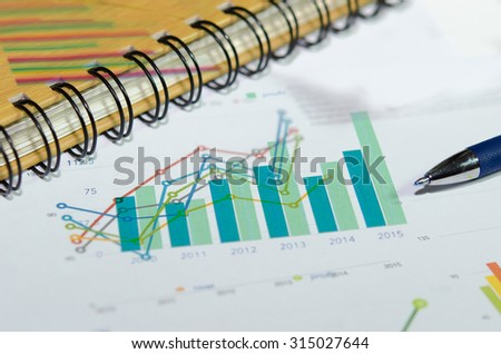 business graph on the desk. business concept