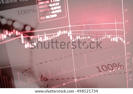 Business graph with arrow showing profits and gains - Wealth management concept.