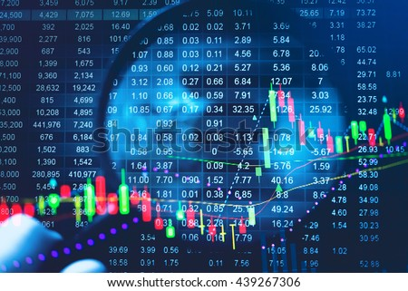 business graph tending stock market data stock photo royalty free