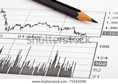 Business Graphic on commerce paper - stock photo