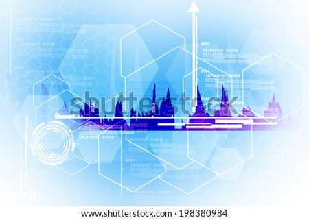 business graphs background - stock photo