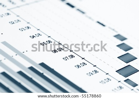 Business graphs background. - stock photo