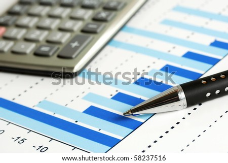 Business graphs monitoring. - stock photo