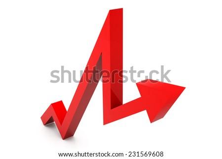 Business growth arrow - stock photo