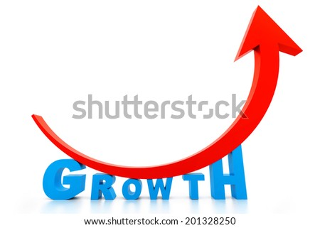 Business growth graph - stock photo