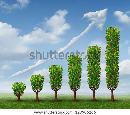 Business Growth Success Financial Graph Shaped Stock Illustration
