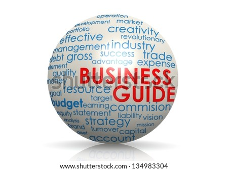 Business guide sphere - stock photo