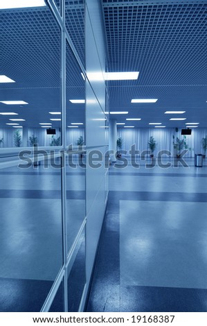 business hall blue