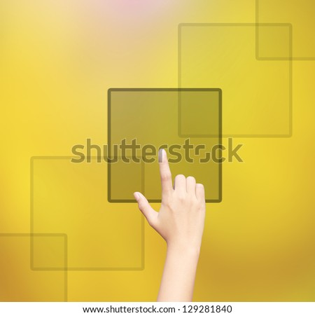 business hand clicking - stock photo