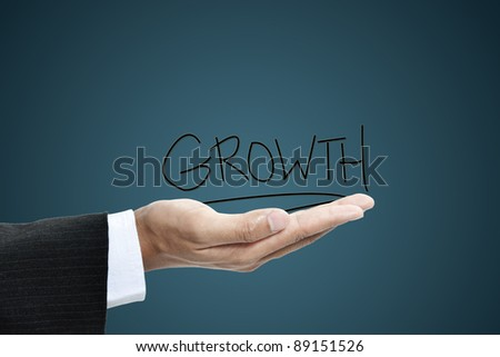 business hand concept - stock photo