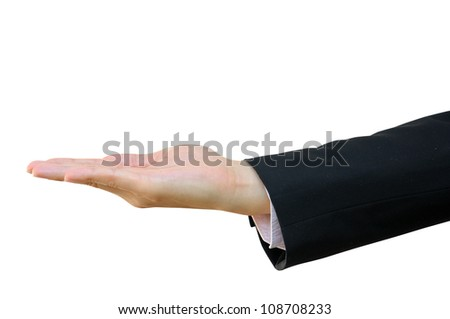 Business Hand Isolated on White