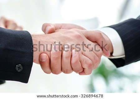 Business Hand shake.  - stock photo
