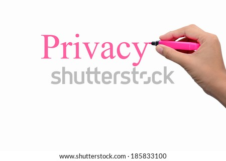 Business hand writing Privacy concept  - stock photo
