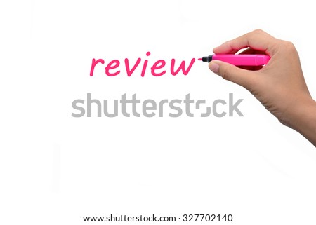 Business hand writing  review