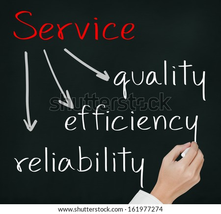 business hand writing service concept - stock photo