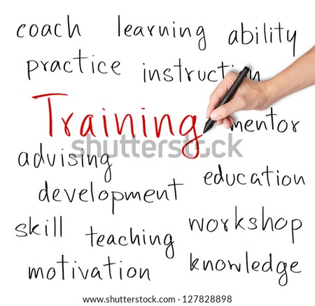 business hand writing training concept - stock photo