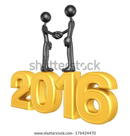 Business Handshake 2016 - stock photo
