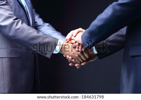 Business handshake. Great business deal.  teamwork concepts - stock photo