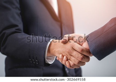 Business handshake ,Investment concept