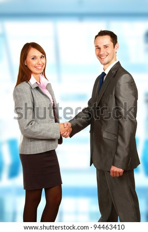 Business handshake ,isolated on white background