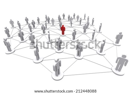 Business human social network on white background. - stock photo