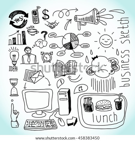 Business icons pattern.  raster copy - stock photo