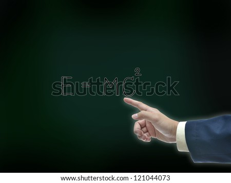Business idea on chalk board background.