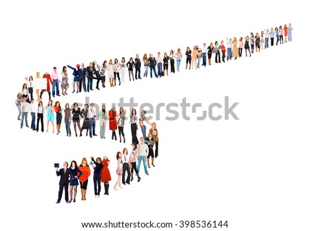 Business Idea Together we Stand  - stock photo