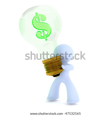Business idea with dollar sign - stock photo