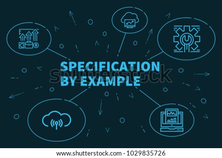 Business Illustration Showing Concept Specification By Stock