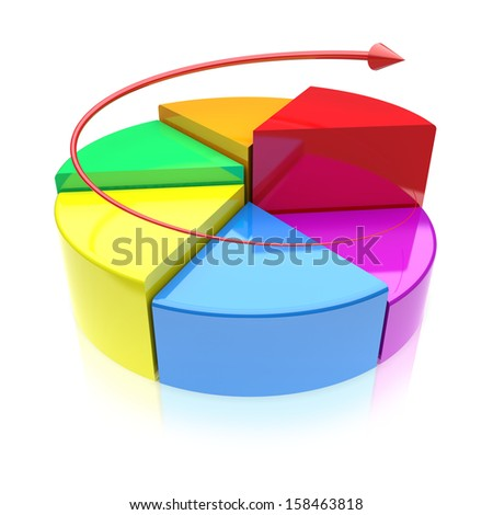 Business improvement concept.  Finance 3d growth graph on a white background. - stock photo