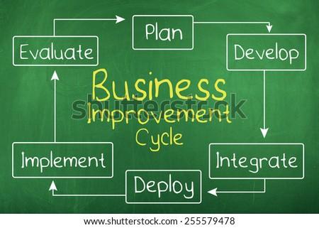Business Improvement Diagram - stock photo
