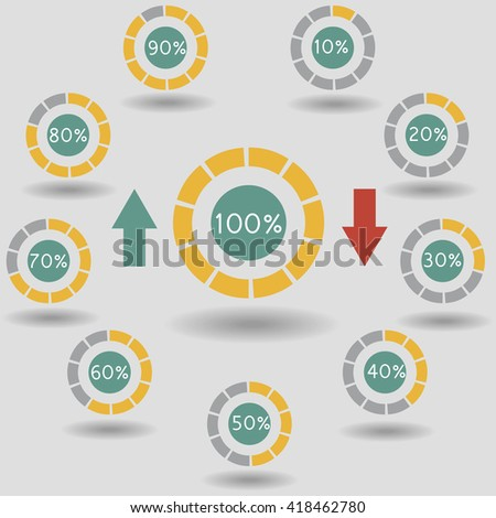 Circle Chart Graph Infographic Percentage Templates Stock Vector ...