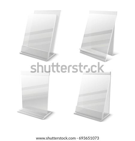 business information transparent plexiglass empty holders set plexiglass frame for card message plexiglass display