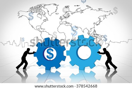 Business innovation world creative idea dollar - stock photo