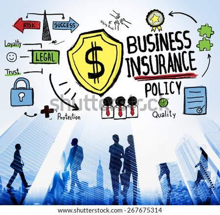 Business Insurance Policy Guard Safety Security Concept - stock photo