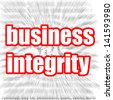 Business integrity - stock photo