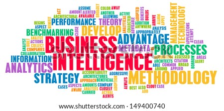 Business Intelligence and Analytics with Data Art - stock photo