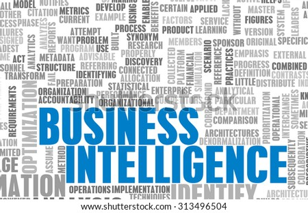 Business Intelligence Information Technology Tools as Art - stock photo