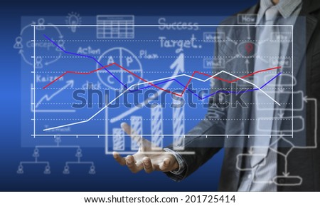 Business investment planning graphs. - stock photo