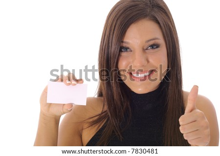 Business is Great thumbs up - stock photo
