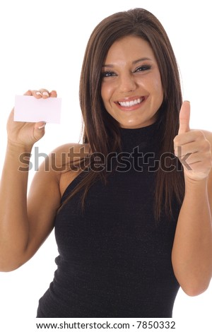 Business is Great thumbs up vertical - stock photo