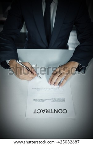 Business is signing a contract
