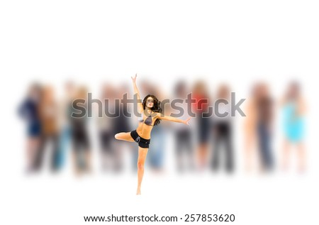 Business Isolated Focus on a Person  - stock photo