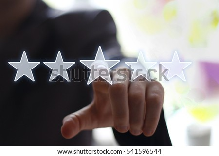 Business key rating increase icon web.