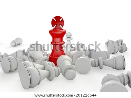 Business Leadership and Competitive Edge Concept - stock photo