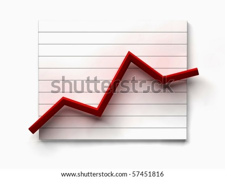business line graph on white background